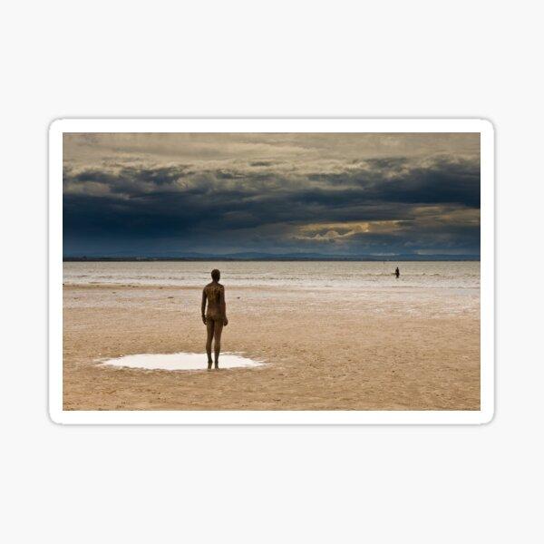 Crosby Beach - Anthony Gormley Statues  Sticker