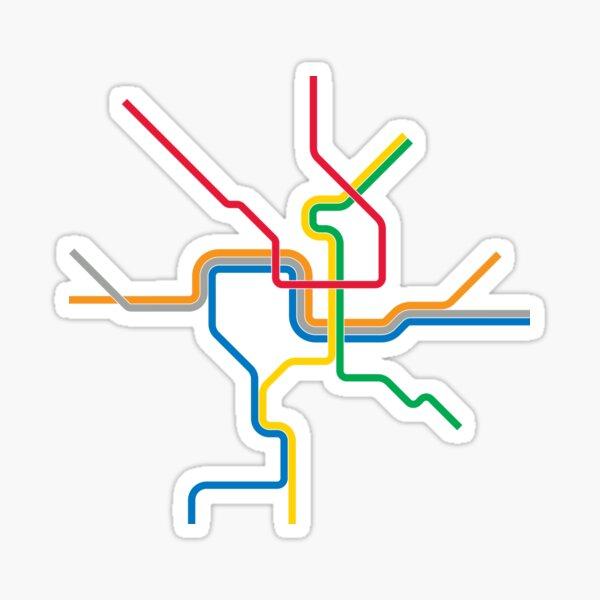 Washington Subway Map Sticker