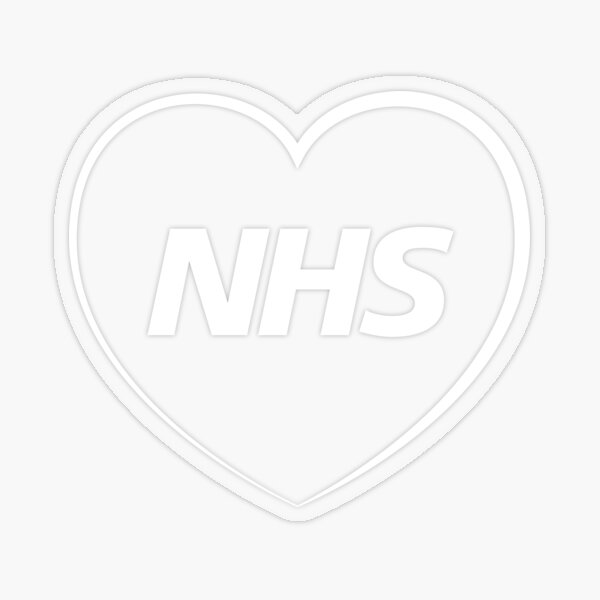 NHS Superman Car Bike decals stickers Show some love