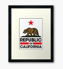 Republic of California Framed Print
