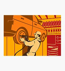 Mechanic Automotive Repairman Retro Photographic Print