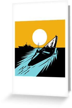 Submarine Boat Retro by patrimonio