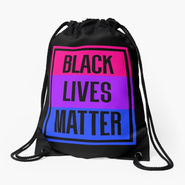 BLM - bisexual Drawstring Bag