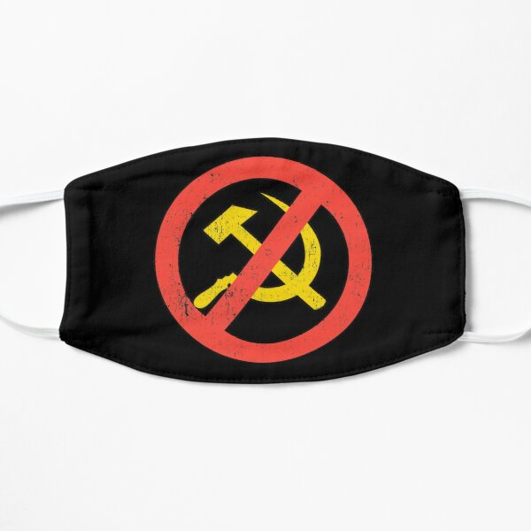 Anti Communist symbol Slogan Hammer and Sickle Russia Black Distressed Mask