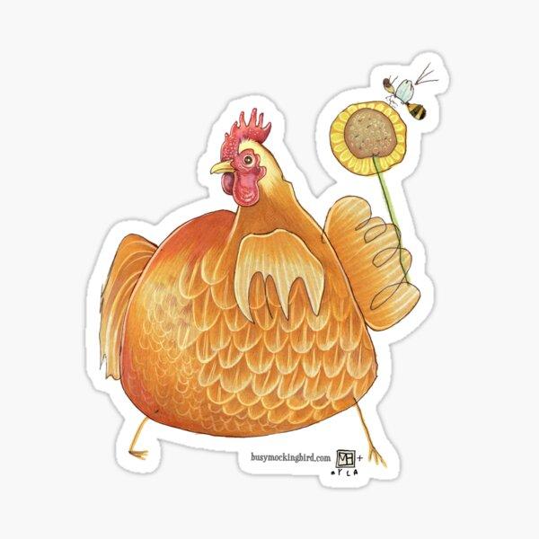 Sunflower Hen Sticker