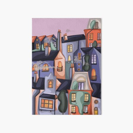 Houses Art Board Print