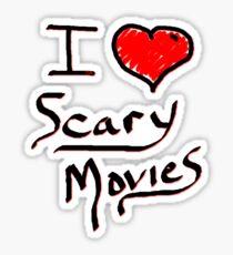 i love halloween scary movies  Sticker