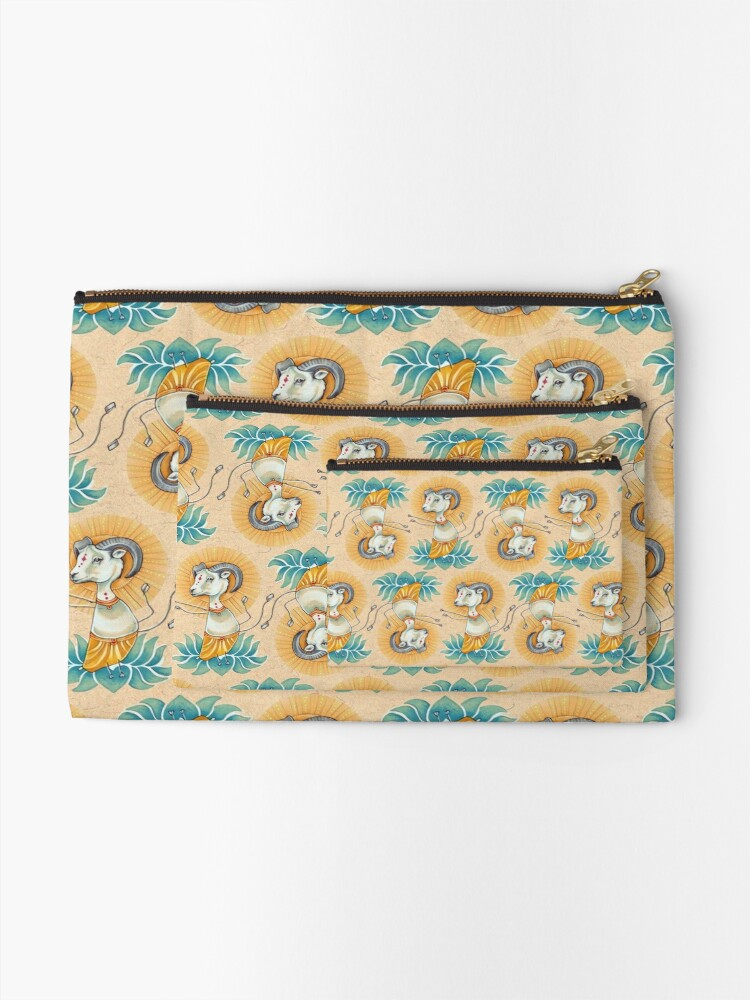 Alternate view of Spider-Ram Zipper Pouch