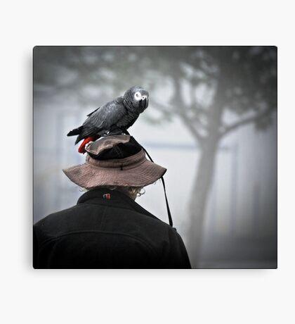 I always wear a bird on my head Canvas Print