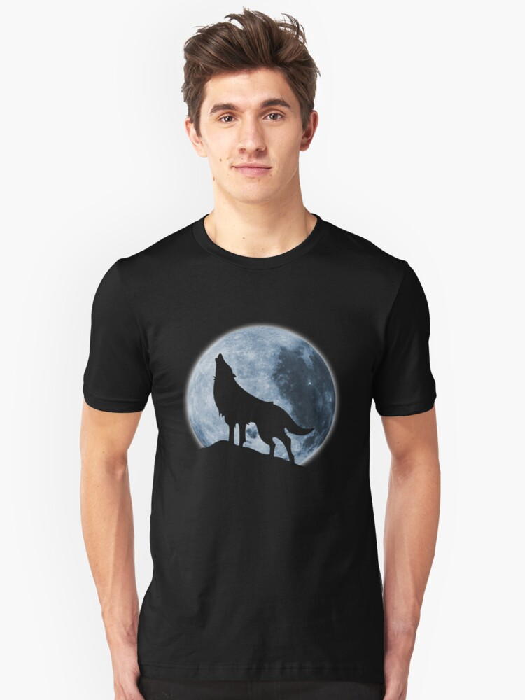 Howling Wolf Unisex T-Shirt Front