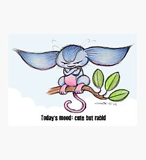 Cute Tree Mouse Photographic Print