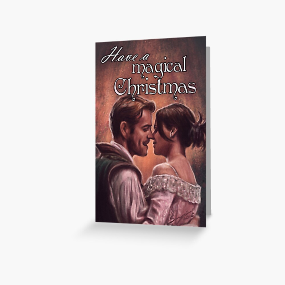 Outlaw Queen Magical Christmas Greeting Card