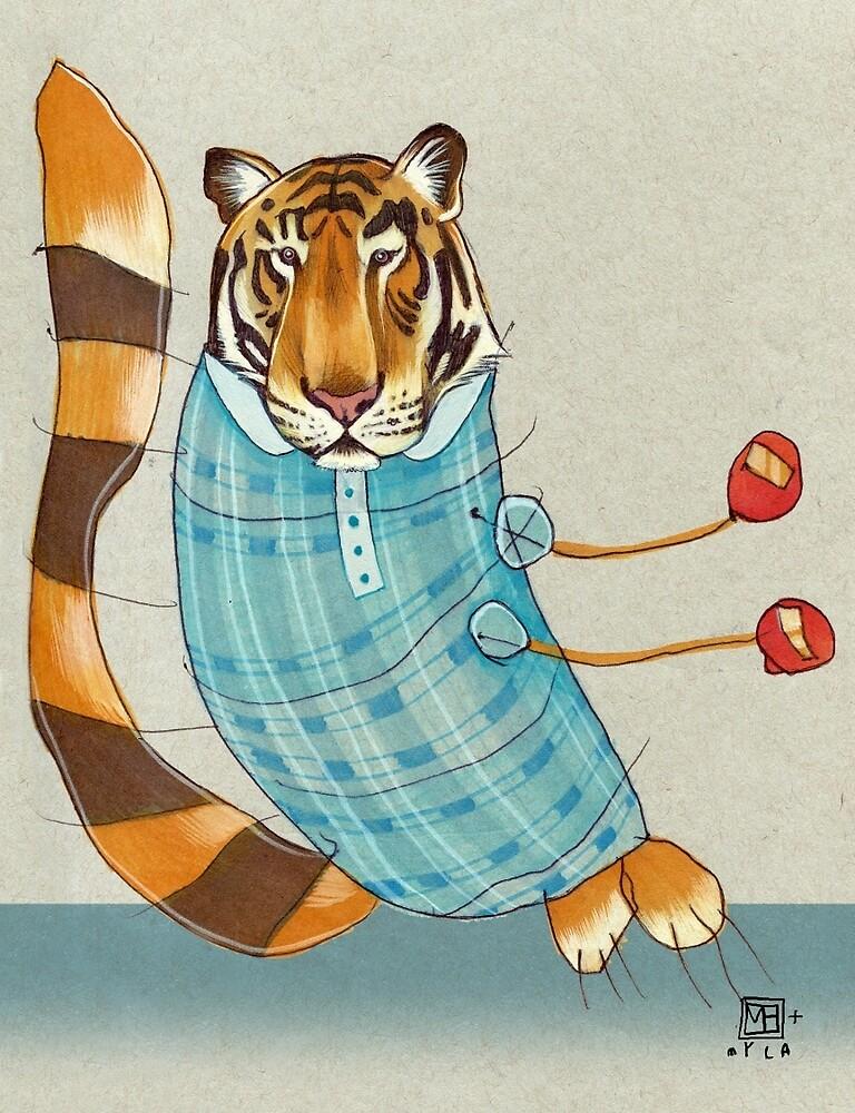 Tiger in Stripes by busymockingbird