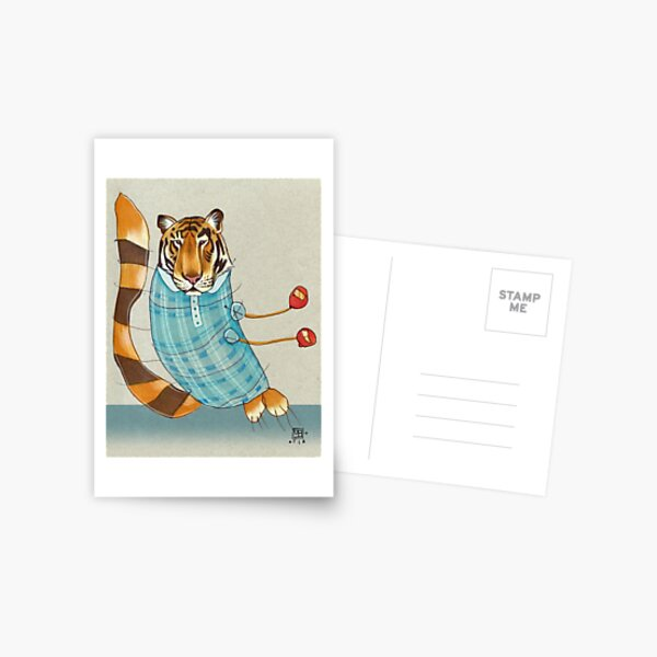Tiger in Stripes Postcard