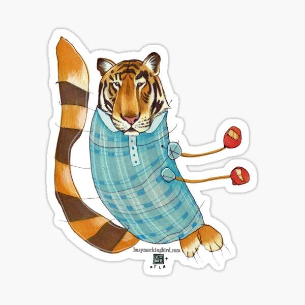 Tiger in Stripes Sticker