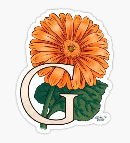 G is for Gerbera Sticker