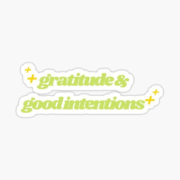 Serpentine Green Gratitude & Good Intentions Sticker