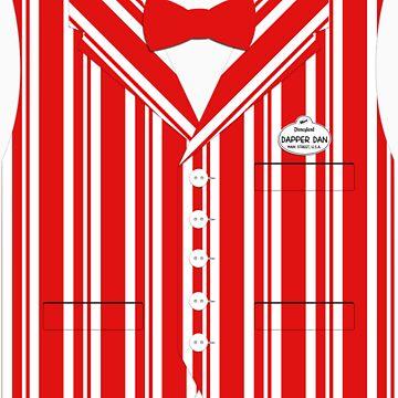 Dapper Dans Vest - Red by jdotcole