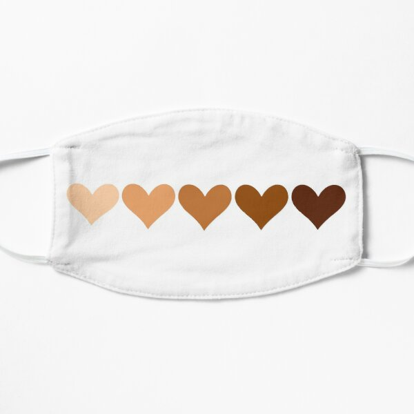 Hearts - skin color (anti racism) Flat Mask