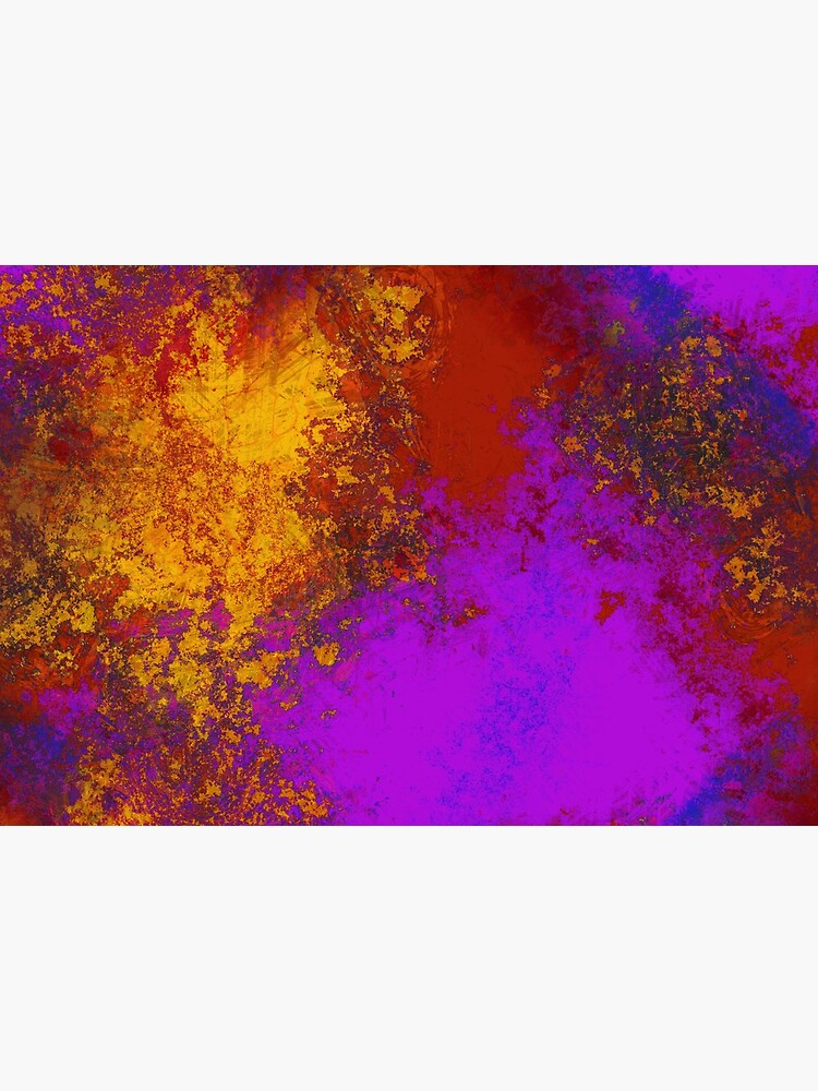 Paint Splatters Gold Pink Purple Texture Pattern by RootSquare