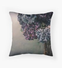 Hydrangea in the Fall Throw Pillow