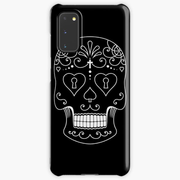 Mexican Calavera Skull White - Day of the Dead Samsung Galaxy Snap Case