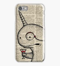 Narwhal with Monocle iPhone Case/Skin