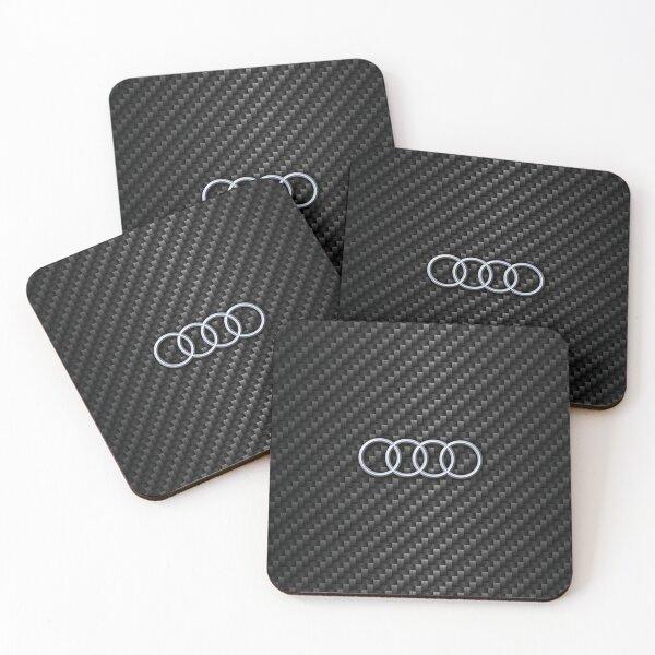 Carbon fiber Audi Coasters (Set of 4)