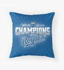 Royals champions Throw Pillow