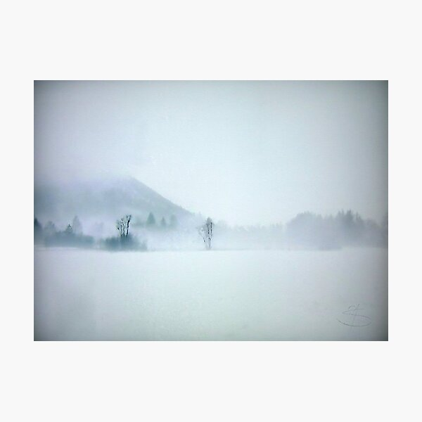 Lost in the cold void of hopeless longing Photographic Print