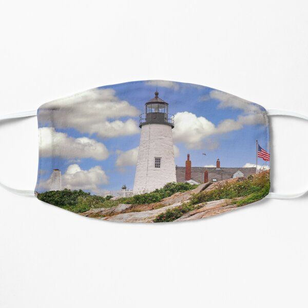 Pemaquid Point Lighthouse in Maine Flat Mask