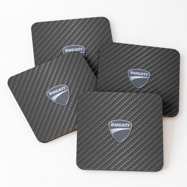 Carbon fiber Ducati Coasters (Set of 4)