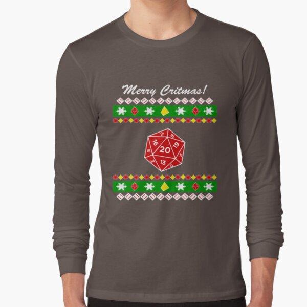 Merry Critmas! Ugly Christmas Sweater Long Sleeve T-Shirt