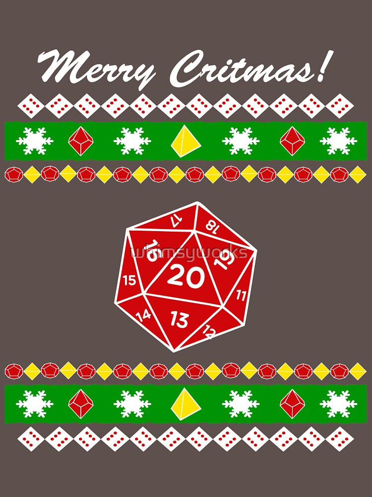 Merry Critmas! Ugly Christmas Sweater by whimsyworks