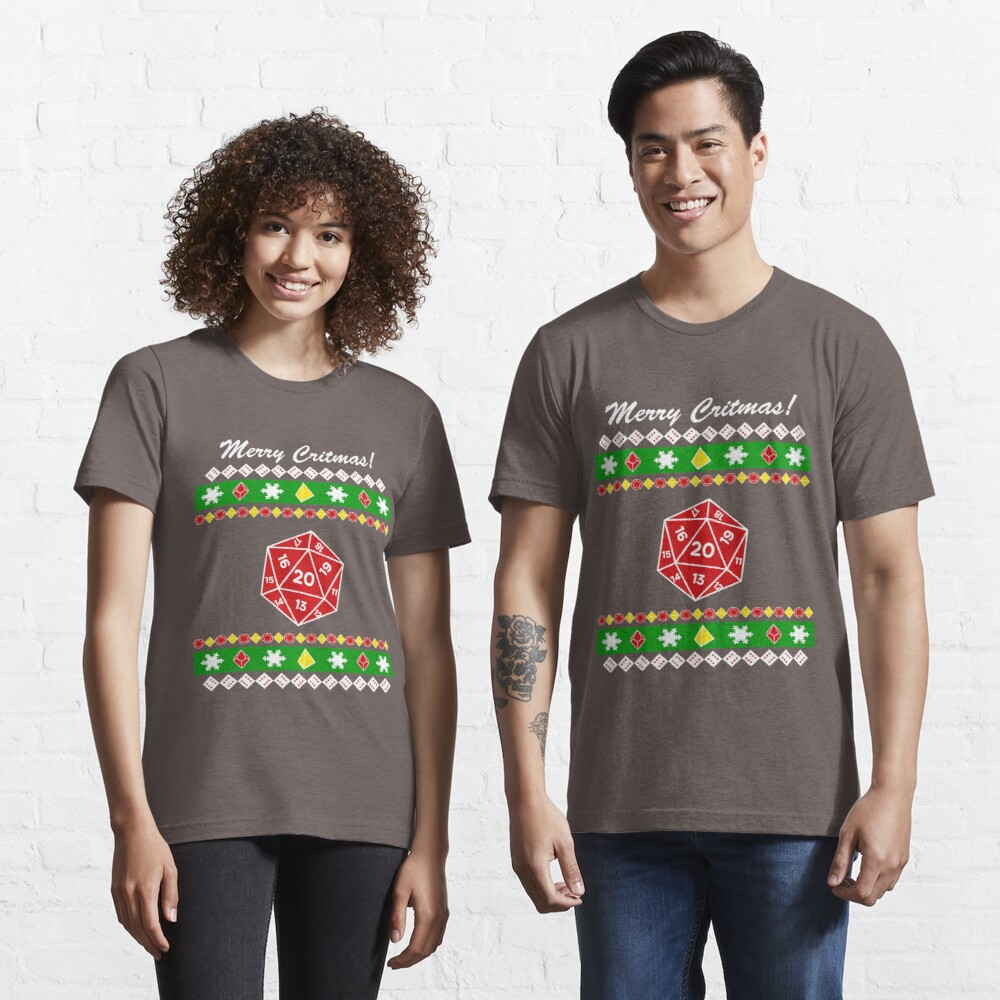 Merry Critmas! Ugly Christmas Sweater Essential T-Shirt