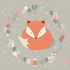 Christmas baby fox 01 by BlueLela
