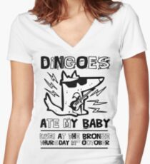 Dingoes Ate My Baby | Buffy The Vampire Slayer Band T-shirt Women's Fitted V-Neck T-Shirt