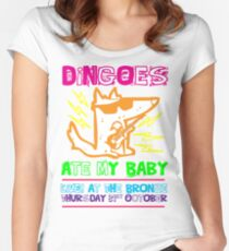 Dingoes Ate My Baby | Buffy The Vampire Slayer Band T-shirt [Neon] Women's Fitted Scoop T-Shirt