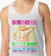 Camisetas de tirantes para hombre Dingoes comieron a mi bebé   Camiseta Buffy The Vampire Slayer Band [Neon]
