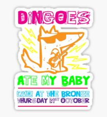 Dingoes Ate My Baby | Buffy The Vampire Slayer Band T-shirt [Neon] Sticker