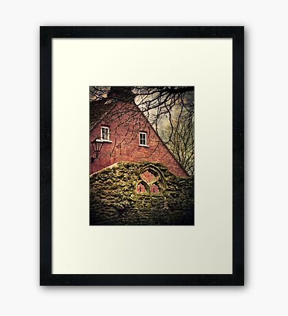 Through the Arched Window Framed Print