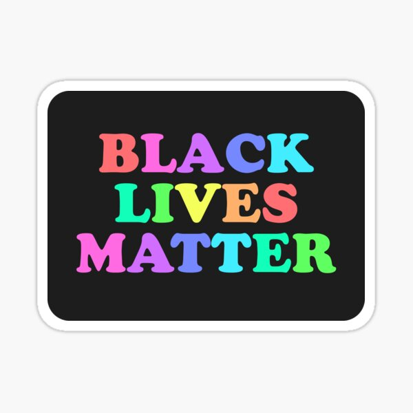 all earnings will be donated to blm! Sticker