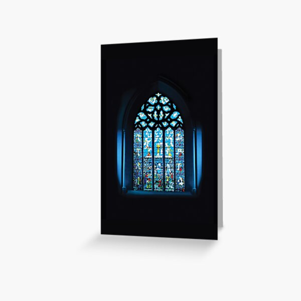 Stained Glass Window - Rye Parish Church of St. Mary, Sussex, England Greeting Card