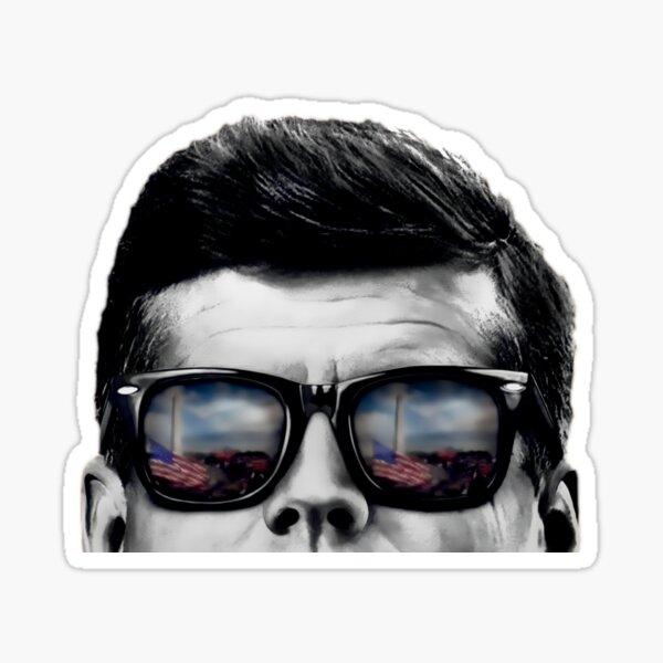 JFK Pop-Art (Black & White) Framed/Metal/Canvas Print  Sticker