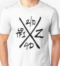Dead Walking Zombie X-Code (BLACK) Unisex T-Shirt