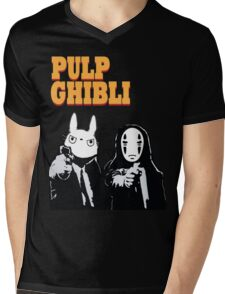 Pulp Ghibli - Studio Ghibli and Pulp Fiction Mens V-Neck T-Shirt