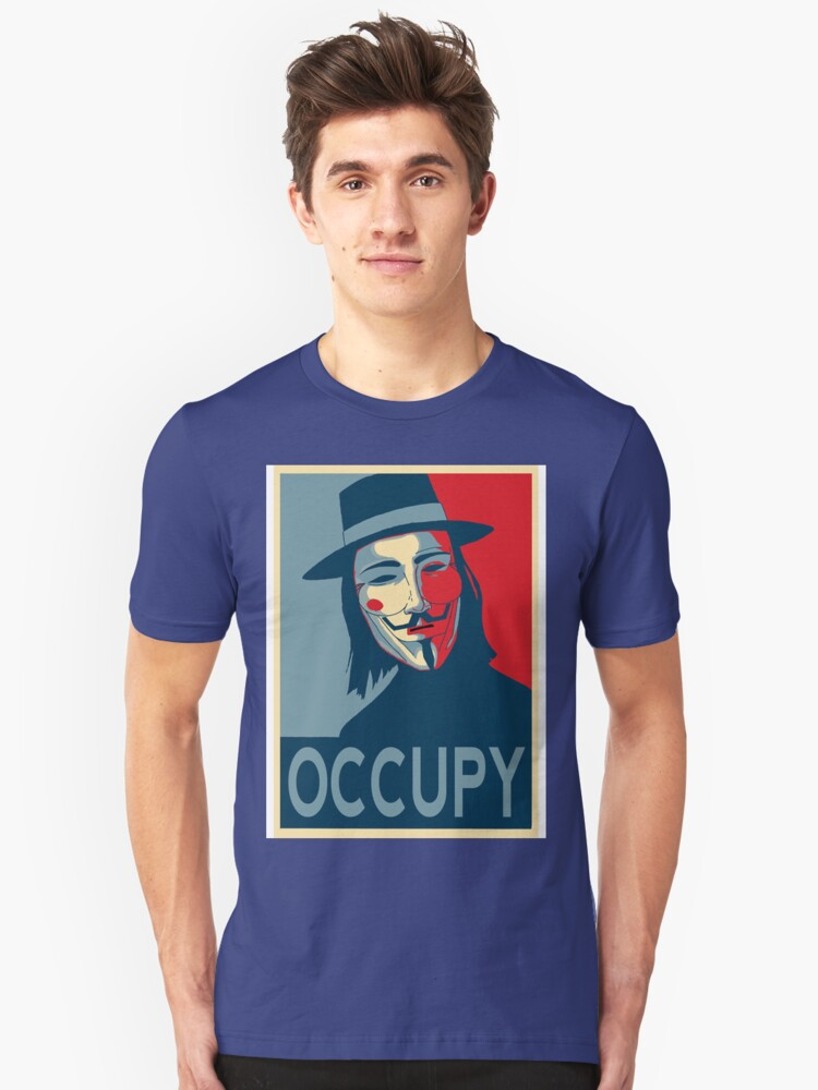 V - Occupy Unisex T-Shirt Front