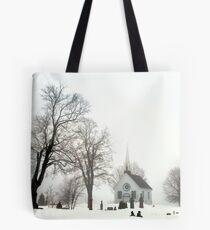 White Scene Tote Bag