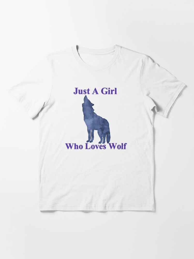 Hoodie Just a Girl Who Loves wolves Tanktop Sweatshirt Wolf Lover Animal Lover Wolf Shirt for Girls Women Birthday Gifts Funny Shirt
