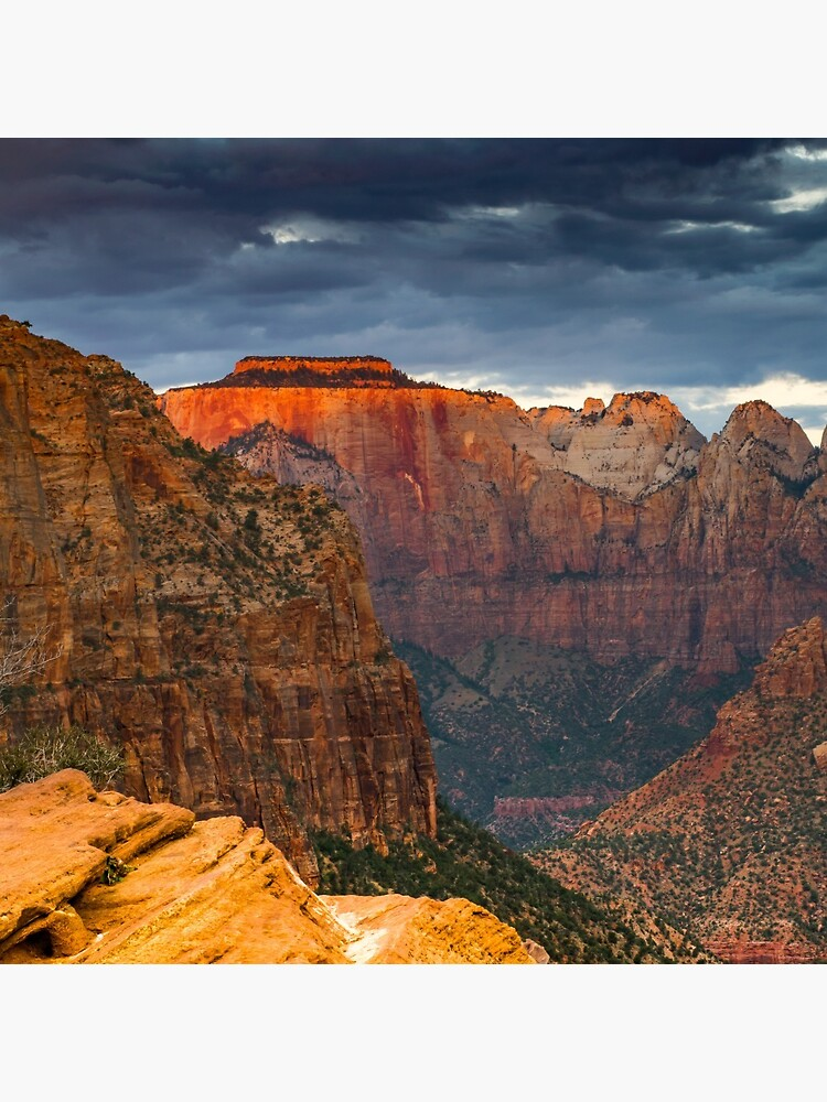 Zion National Park Canyon Overlook Landscape Photography Gifts by rbaaronmattie